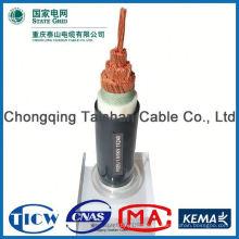 Profesional cable fábrica Fuente de alimentación no flexible cable redondo