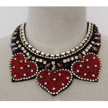 Дамы Кристалл бисера мода коренастый нагрудник костюм колье воротник ожерелье (JE0014)