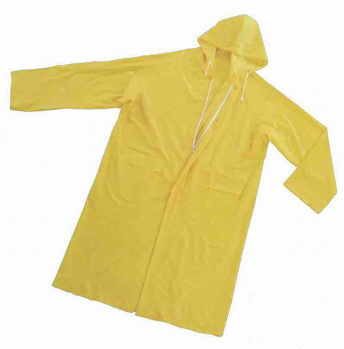 Yellow Pvc Raincoat