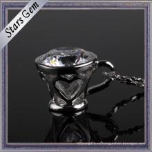 Модная форма чашки стерлингового серебра Кулон ювелирные изделия для Deacoration