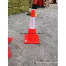 PVC Flexible Reflexivo Tráfico Seguridad Vial Conos Suaves