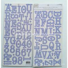Alpha Chipboard Cartas Etiqueta En Carton Gris