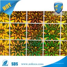 Etiqueta autoadhesiva de la alta calidad, etiquetas adhesivas holográficas