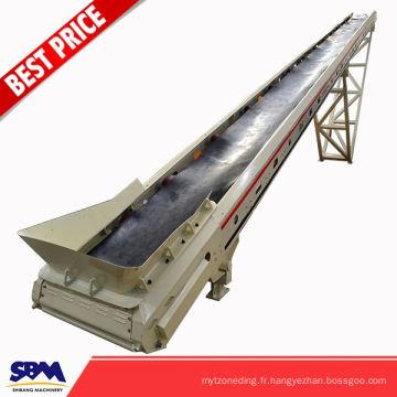 Le concasseur industriel de roche a employé le tapis roulant minni pour le minerai