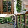Садовые цветочные горшки для цветов водонепроницаемые вертикальные стены