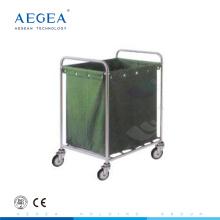 AG-SS013 bolsa de suspensión de acero inoxidable carrito de lavandería sucio con ruedas