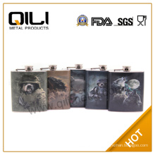 6oz CMYK print personal stainless steel hip flask gift for men