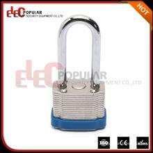 Elecpopular Factories Wenzhou Blue colour Safety Rigid Steel 34mm Lock Body Long Shackle lock