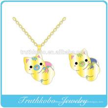 2016 haute qualité date en gros plaqué or coloré émail Animal sexy pendentif en collier pour filles bijoux