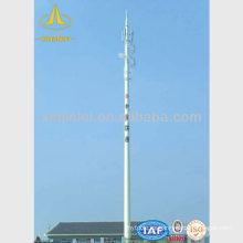 Polo de telecomunicaciones telescópico de tubo simple