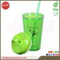 650ml BPA libre de plástico acrílico taza con paja (TB-B501)