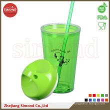650 мл BPA Free Пластиковая акриловая чашка с соломой (TB-B501)