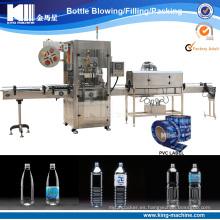 Máquina automática de etiquetado de botellas de agua