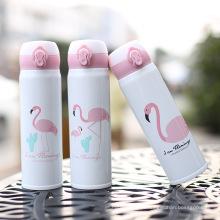 Flamingo Theme Fashion Aço inoxidável garrafa de água