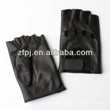 Motor fashion Driving plain half finger leather gloves