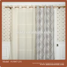 Großhandel 100% Polyester Blackout Stoff für Vorhänge und weißen Jacquard Vorhang