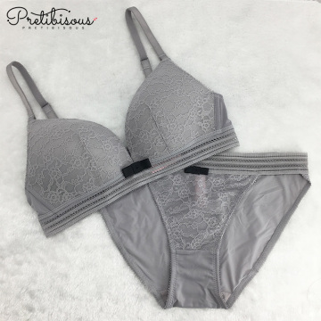 Set di reggiseno confortevoli in pizzo sexy push-up