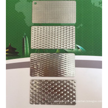 Embossed stainless steel plate/sheet hot rolled/cold rolled
