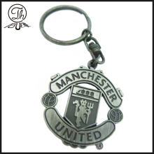 Imitation antique football club metal keychain