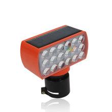 Luzes LED de barricada de cone vermelho para estradas de trânsito