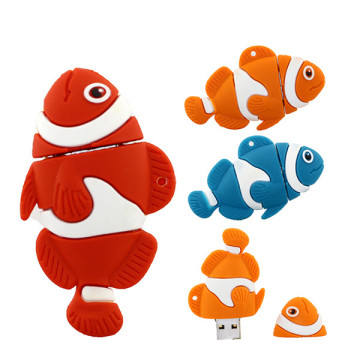 Nuevos productos Lovely Cartoon Fish USB Stick