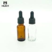 anpassbare 20ml leere ätherisches Öl Braunglasflasche mit Pipette