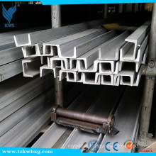 316 grade stainless steel U channel with dimensions 70mm x 35mm x 6mm thick