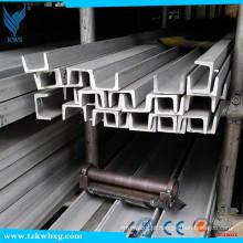 Canal em U de aço inoxidável de grau 316 com dimensões de 70 mm x 35 mm x 6 mm de espessura