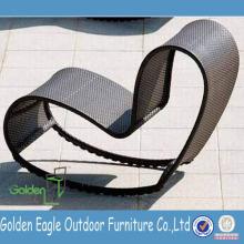Chaise longue à la mode et à rayures UV chaise longue