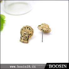 2016 Fashionjewelry Or Bouddha Boucles d'oreilles pour la vente en gros # 2659