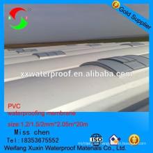 Membrana de impermeabilización de pvc de alta calidad para el subsuelo