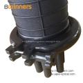 Boîte de fermeture d'épissure de fibre optique à dôme vertical