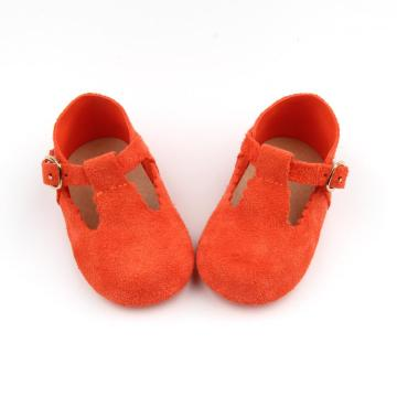 Baby Bright Color lederen T bar schoenen