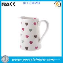 Love Hearts - Pichet de lait en céramique blanc