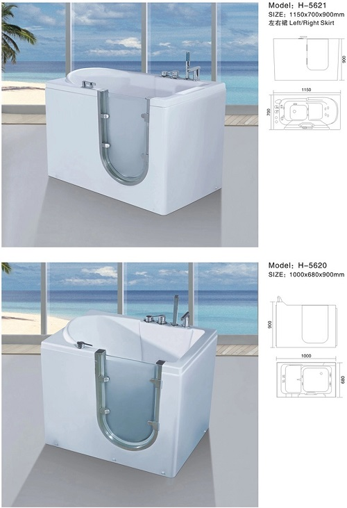 chinese bathroom freestanding walk in bath tub for adults