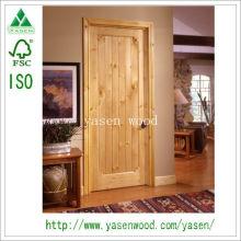 Modern Design Wooden Door/Knotty Pine Door