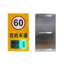Tablero de letreros de límite de velocidad de tráfico de radar led