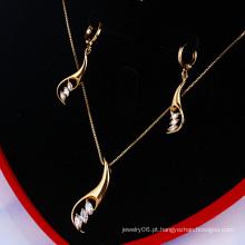 Xuping 18k Gold Colour elegante conjunto de jóias (60746)