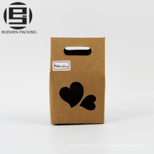 Food kraft paper gift bag with window