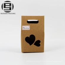 Еда крафт-бумага подарок мешок с окном