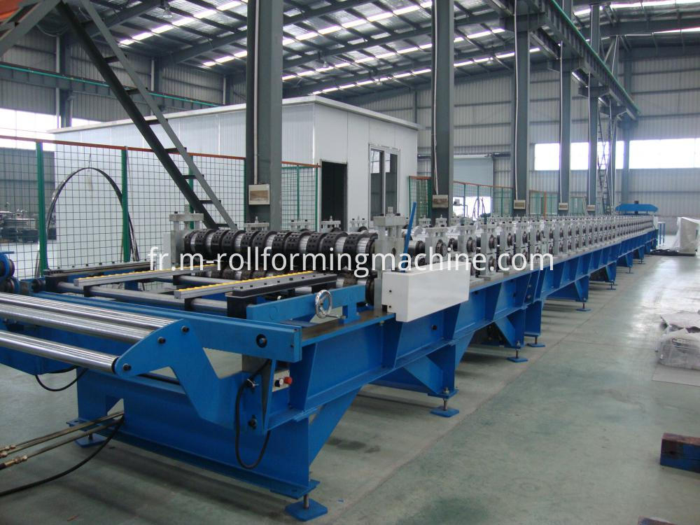 Floor deck profile roll forming line