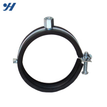 Good Reputation High Quality Galvanized Hinged Pipe Clamp With Rubber Cushion