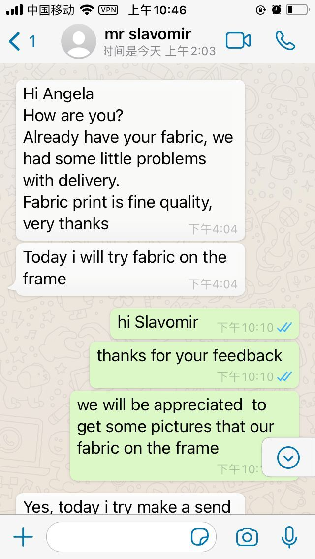Feedback From Customer About Our Fabric Backdrop