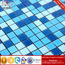 China factory hot sale products blue mixed Hot - melt mosaic tile floor tile