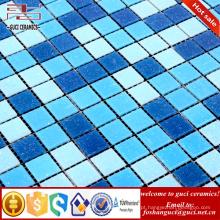 Produtos quentes da venda da fábrica de China misturado quente azul - telha de assoalho da telha de mosaico do derretimento