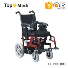Cadeira de rodas elétrica segura de aço da moda com sistema de controle de velocidade