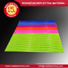 Fadeless colorful rim reflective stickers