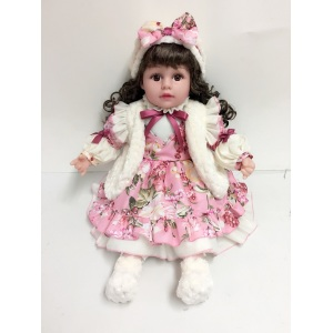"20"" Black Hair Vinyl Doll"