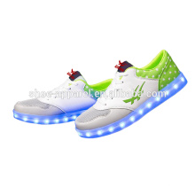 nouvelles chaussures en cuir PU LED lumières chaussures baskets chaussures