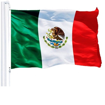 100% Polyester National Mexikanische Flagge
